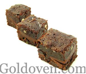 dark choco melt brownies Cakefever Goldoven